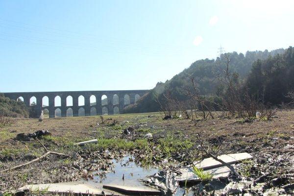 Alibeyköy barajı kurudu
