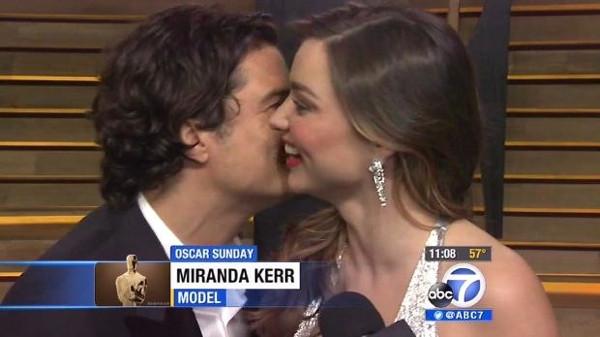 Orlando Bloom, Miranda kerr'i görünce dayanamadı