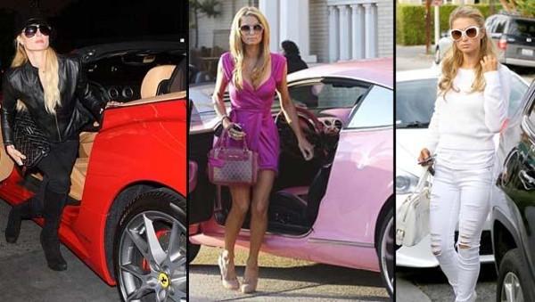 Paris Hilton'un arabaları