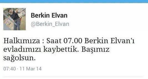 Sosyal medya Berkin Elvan'ı uğurluyor