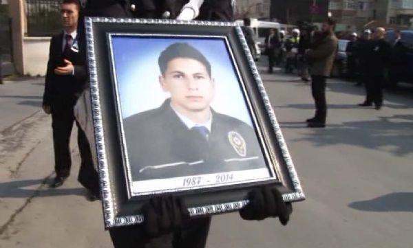 Şehit polis için emniyette tören düzenlendi
