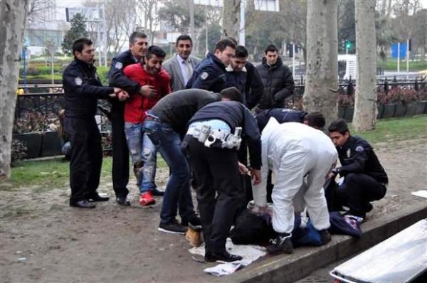 İstanbul'da motosiklet kazası