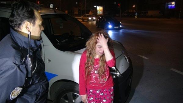 Sokak ortasında ağlarken bulundu