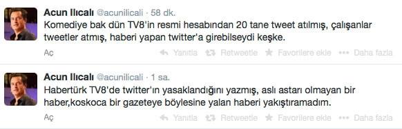 Acun Twitter'ı yasakladı mı ?