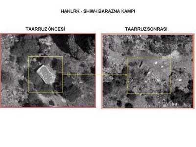 TSK, hainlerin kamplarını işte böyle yerle bir etti