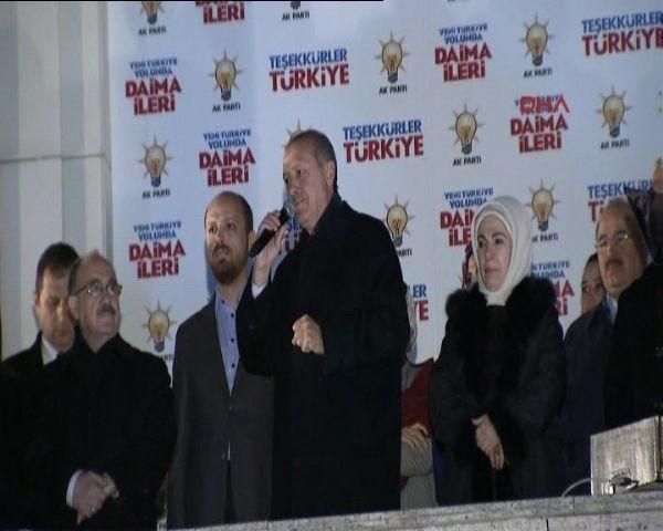 Başbakan Erdoğan'ın balkon konuşması
