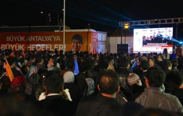 Antalya'da gergin anlar