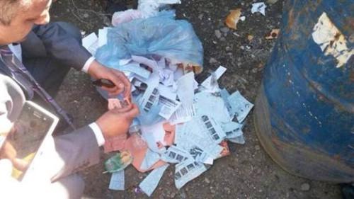 Osmaniye'de çöplerde oy pusulaları bulundu
