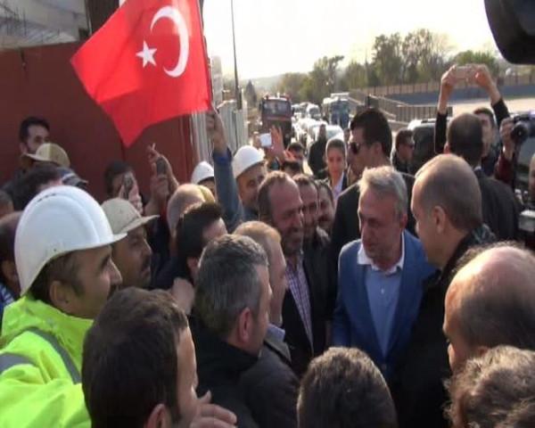 Başbakan Erdoğan inşaat işçileriyle buluştu