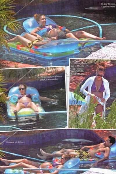Hamile Jessica Albanın havuz keyfi