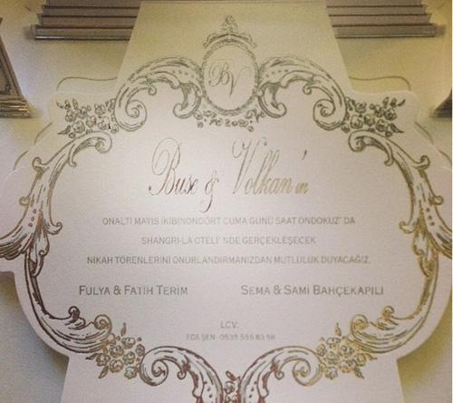 Düğün davetiyeleri dağıtıldı