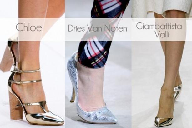 Yeni trend: Metalik ayakkabılar