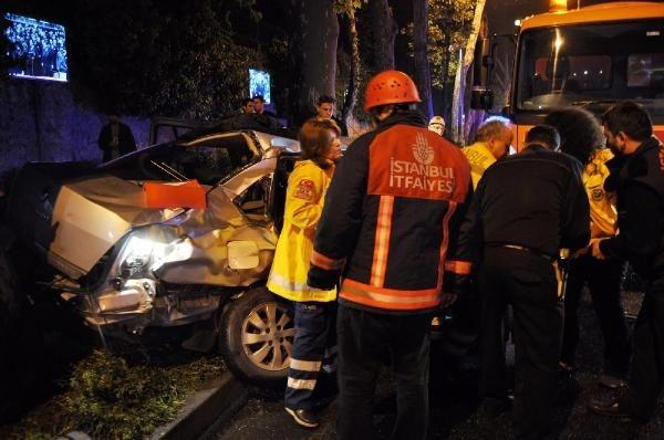 Beşiktaş'ta feci kaza:1 ölü