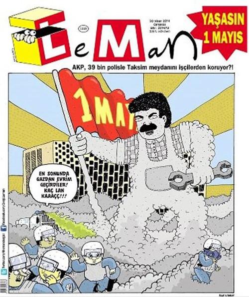 Mizah dergilerinin 1 Mayıs kapakları