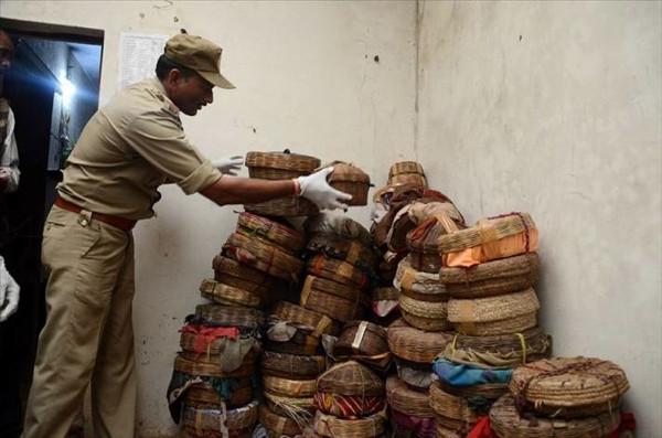 Hindistan'da yılan festivali