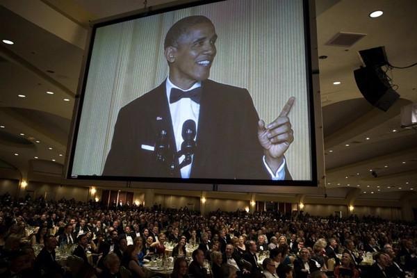 Beyaz Saray'da muhabirler yemeği