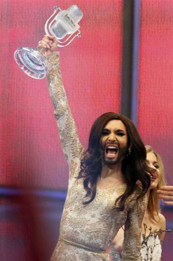 59'uncu Eurovision Şarkı yarışmasını Avusturyalı Conchita Wurst kazandı