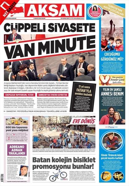 İşte gazetelerin Feyzioğlu - Erdoğan manşetleri