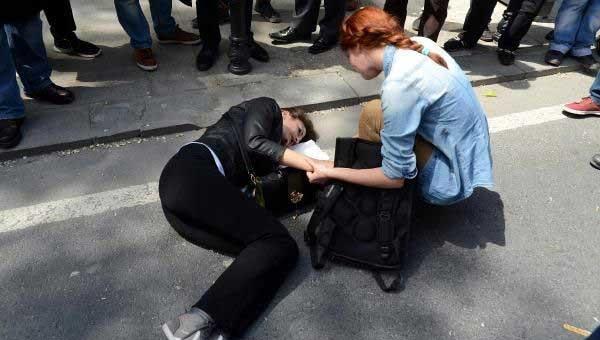 Taksim'de kaza, avukattan ilk yardım