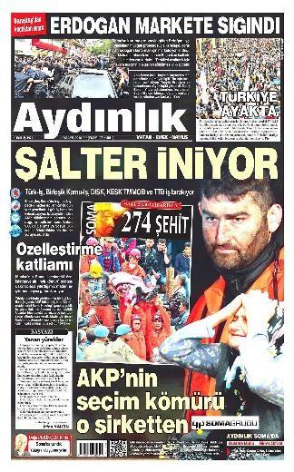 Türk basını yasta