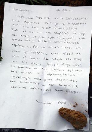 Soma'ya mektup yağıyor