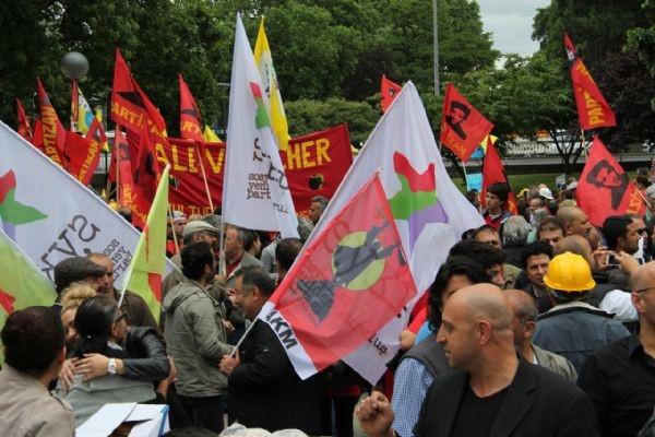 Erdoğan'ın Köln mitingine protesto yürüyüşü