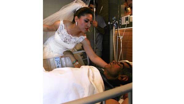 Nikahları hastanede kıyıldı