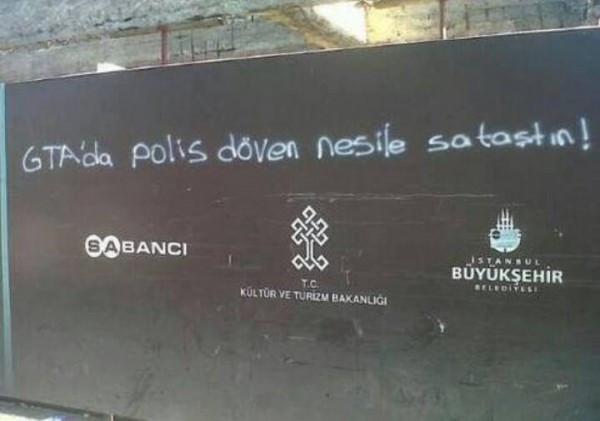 Gezi Parkı'nı anlatan duvar yazıları