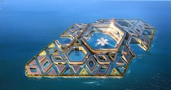Çin'in yüzen şehir projesi