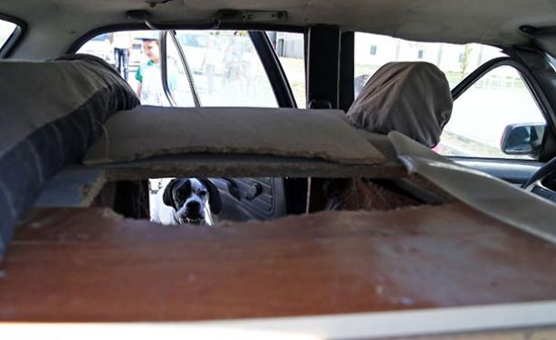 Eski otomobilini köpeğine kulübe yaptı