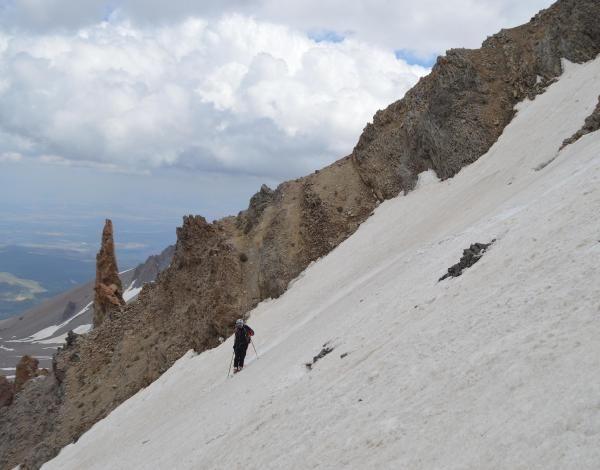 Zirvede yaz kayağı keyfi