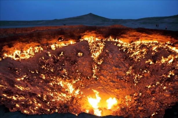 Türkmenistan'daki 'cehennem kapısı'