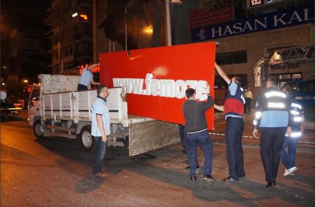 Büyükşehir Belediyesi FEM Dershanesi'nin tabelalarını söktü