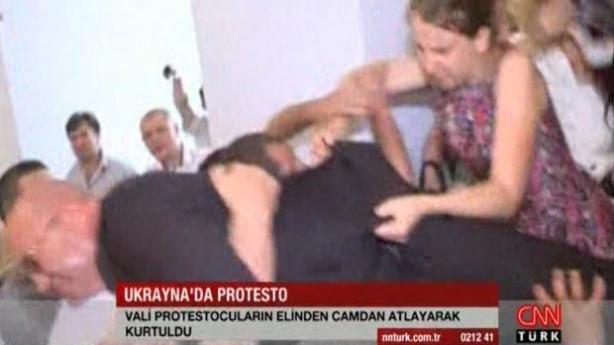 Ukraynalı vali canını zor kurtardı