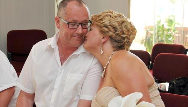 23 yıl sonra Antalya'da evlendiler