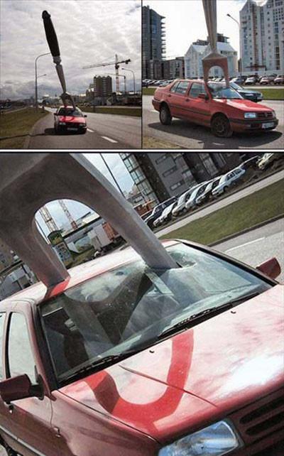 Güldüren trafik kazaları!
