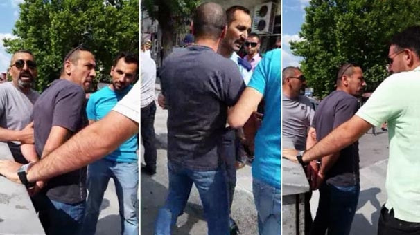 Öğretmene eşi ve çocuklarının önünde sivil polis şiddeti