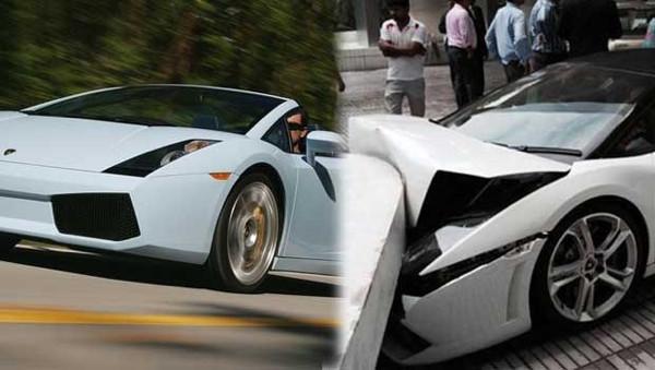 Vale park ederken çarptı gitti güzelim Lamborghini