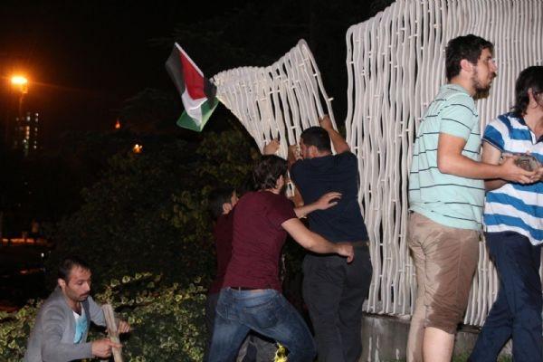 İsrail protestosuna müdahale!