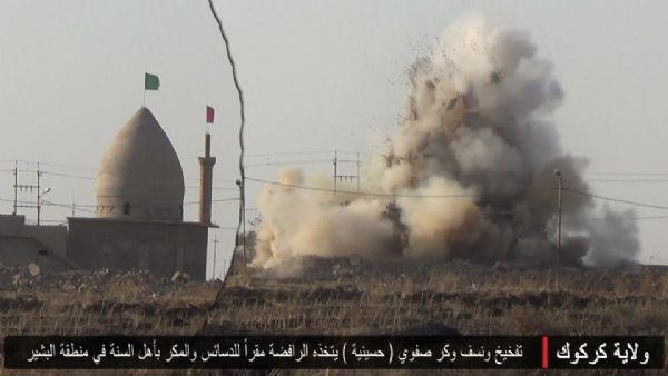 IŞİD, cami ve türbeleri bombaladı!