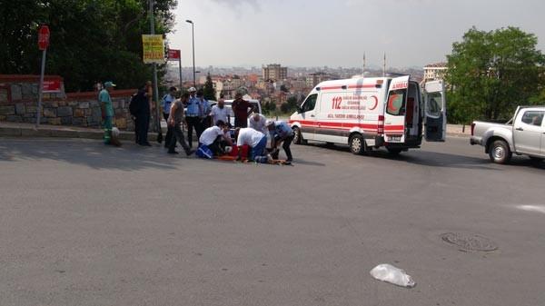 Yolcu minibüsünün açık kapısından düşen kadın ağır yaralandı