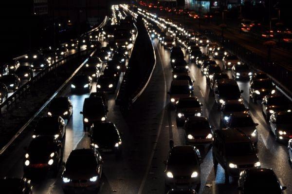 Bayram öncesi trafik çilesi