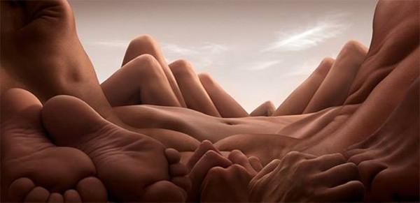 İnsan vücudundan efsane manzaralar