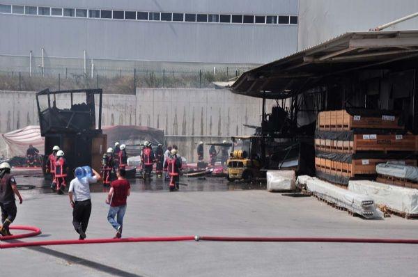 Lojistik firmasında yangın