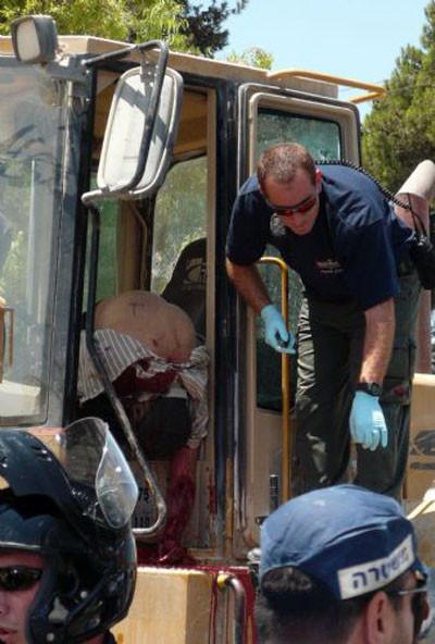 Kudüste buldozer dehşeti