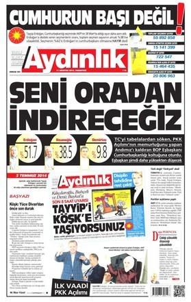 11 Ağustos tarihli gazete manşetleri.