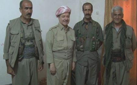Barzani PKK'lılarla ilk kez görüntü verdi
