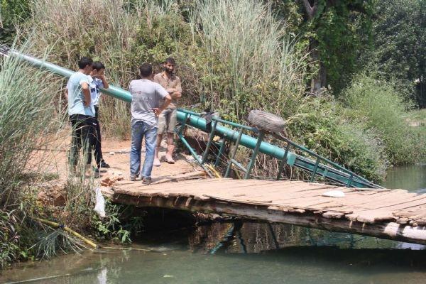 Sulama kanalında dehşet anları