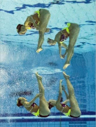 Yüzme şampiyonasından muhteşem kareler