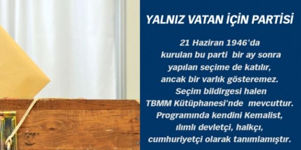 Türkiye siyasi tarihinden enteresan partiler